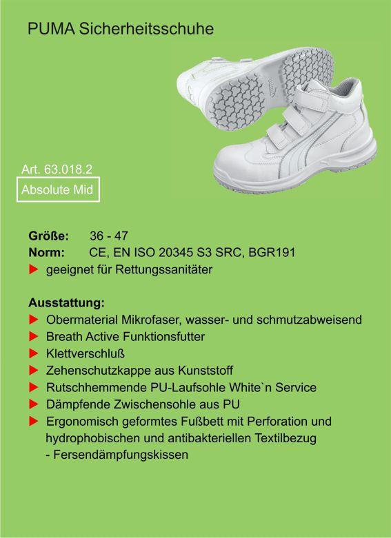 0919cbe1ca72 PUMA Sicherheitsschuhe Absolute Mid - Bekleidung für Rettungs- u.  Pflegedienst, Notfallseelsorge